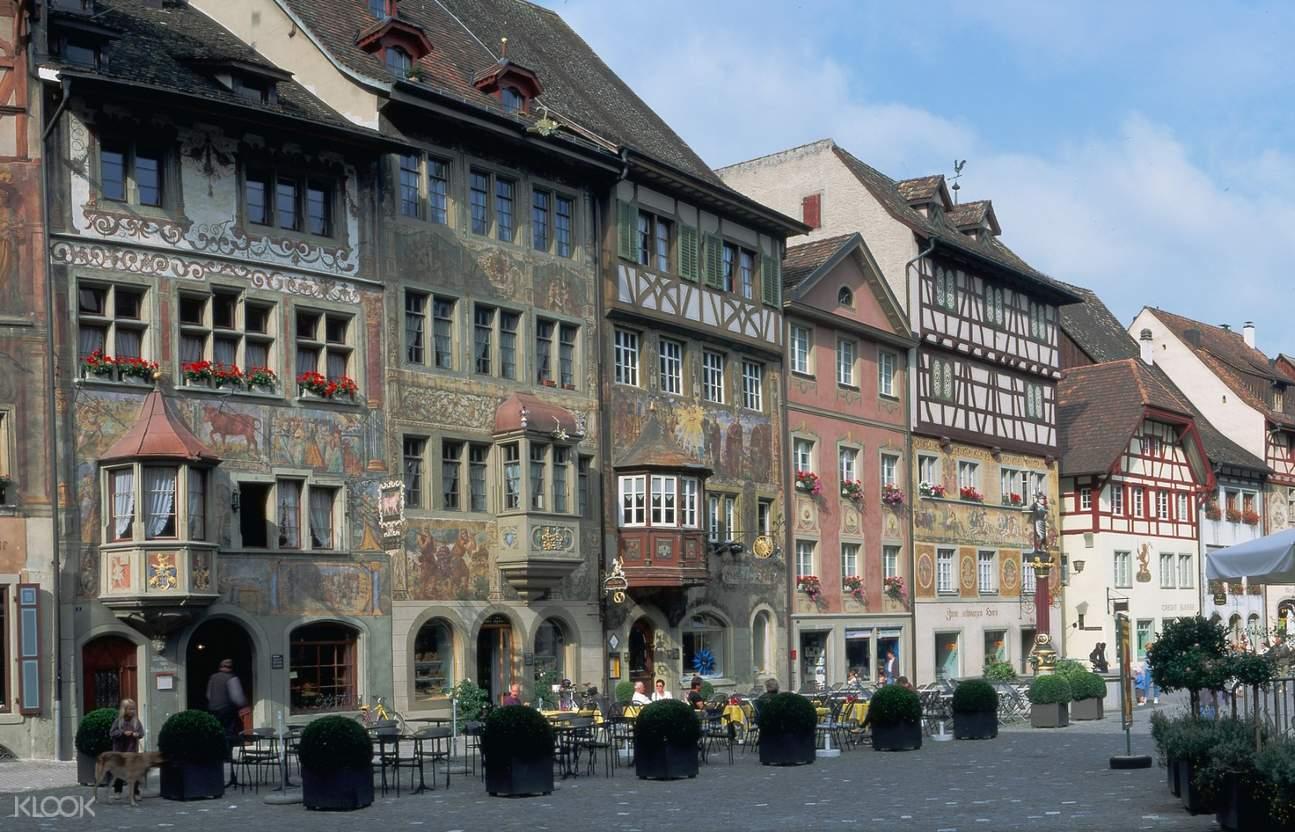 medieval buildings along Stein am Rhein